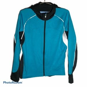 REI NOVARA headwind cycle blue black jacket
